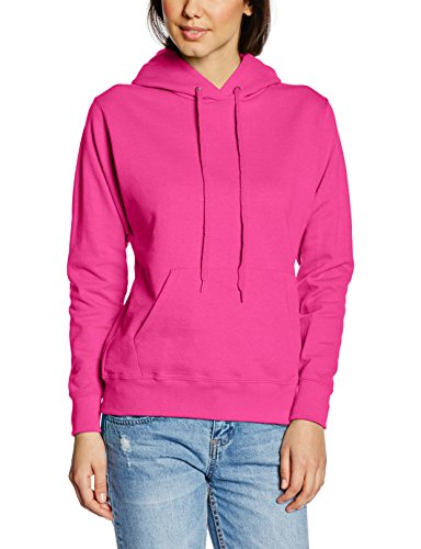 Fruit of the Loom Sweat-Shirt ?Capuche Femme Rose - Rose Fuchsia