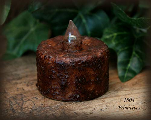 (Primitive & Country Style 2 ~ Primitive Brnt Mustard Wax Dipped Tea Lights w/Auto Timer Rustic Home Decor)