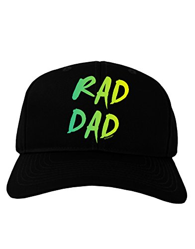 TooLoud Rad Dad Design - 80s Neon Adult Dark Baseball Cap Hat - Black (80s Outfits For Sale)