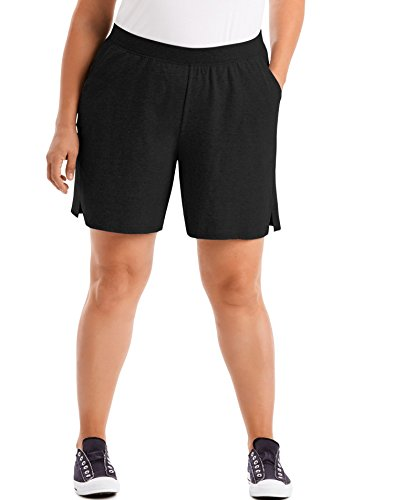 Just My Size Women's Plus Cotton Jersey Pull-On Shorts - 2X Plus - Black from Just My Size