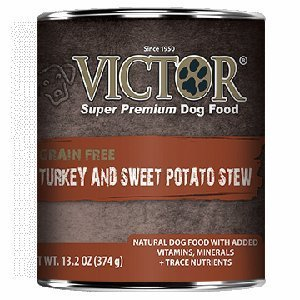 Victor Grain Free Turkey and Sweet Potato Stew Canned Dog Food 13.2oz 12 Case