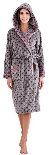 Richie House Women's Soft and Warm Polka Dot Bathrobe Robe RHW2762-A-M (Cinch Polka Dot)