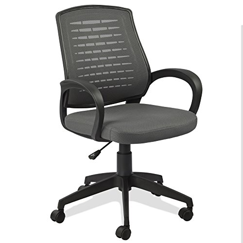 Leick Gray Mesh Vented Back Office Chair Castered Arm Chair