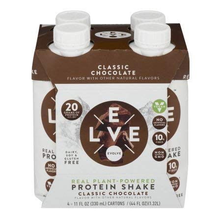 Evolve Real Plant-Powered Protein Shake - Classic Chocolate (Pack of 20)