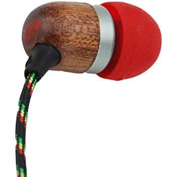 House of Marley EM-JE001-FI Smile Jamaica Jammin' In-Ear Headphone with 1-Button Mic - Fire