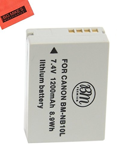 BM Premium NB-10L Battery for Canon PowerShot G15, G16, G1 X, G3-X, SX40 HS, SX50 HS, SX60 HS Digital Camera