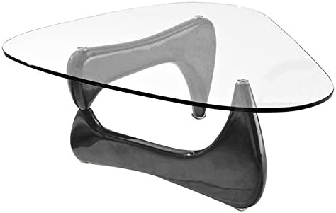 Fab Glass and Mirror Noguchi Style Coffee Table