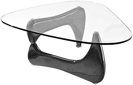 Amazon Com Fab Glass And Mirror Coffee Table Black Furniture Decor
