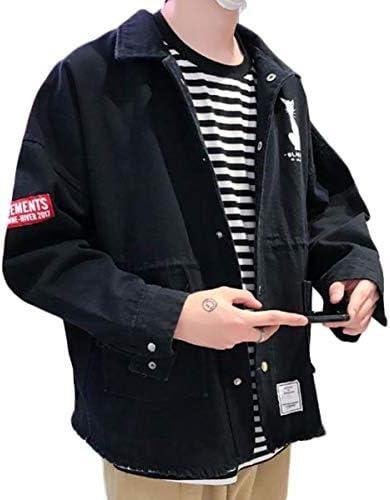 Bestmoodジャケット メンズ ゆったり 英字 ファッション アウター 長袖 カジュアル 軽い ライトアウター ボタン付き ストリート系 春