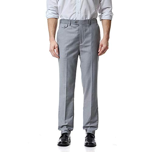 ALIKEEY Los Hombres De Bolsillo Guardapolvos Casual Pocket Business Casual Work Casual es De Pantalón Gris