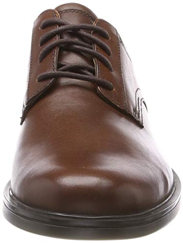 Cordones Zapatos Aldric Tan Marrón Leather Hombre Derby De Un Lace Clarks dark Para wqBatXf