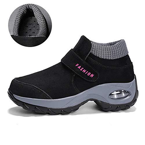 Stivaletti Caviglia Da Piatto Neve Stivali Invernali Sportive Pelliccia Boots Allineato Donna Caloroso Nero Scarpe Uomo wzqUPRq