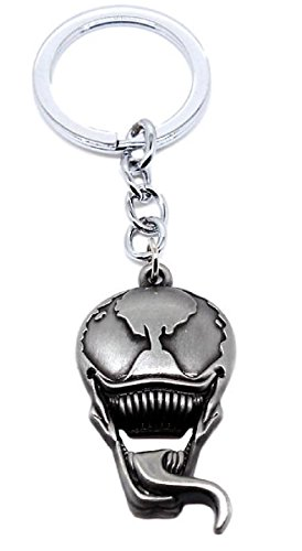 Venom Character Face Pewter Metal Keychain (Pewter Face Pendant)