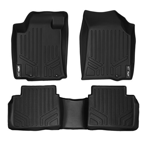 SMARTLINER Floor Mats 2 Row Liner Set Black for 2013-2018 Nissan Altima Sedan (Manufactured After Nov. 2012)