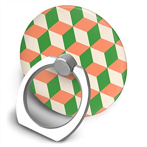 Universal Phone Ring Bracket Holder Orange Cubes Green White Finger Grip Stand Holder Ring 360 Rotate and 180 Flip Stand for Almost All Phones -