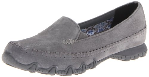 Charcoal basso Skechers Donna Scarpe collo Grey Bikers a Pedestrian C8gSCq