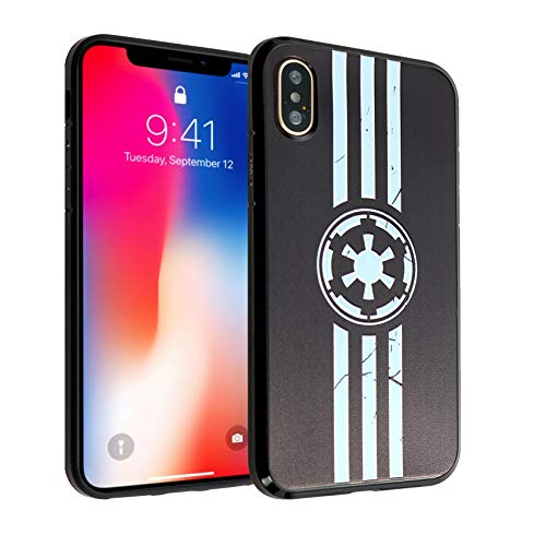 iPhone XR Case Imperial Logo,DURARMOR FlexArmor Rubber Flexible Bumper Shockproof Ultra Slim TPU Case Drop Protection Cover for iPhone XR- Star Wars Imperial Logo ()