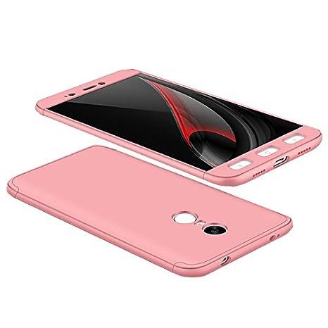 Tmusik Funda Xiaomi Redmi Note 4 Versión Global/Redmi Note 4X, 360 Grados Integral Carcasa Cuerpo Completo Caso Cubierta, 3 en 1 Híbrido Snap On ...