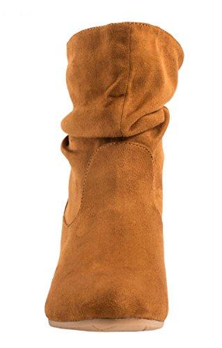Elara Camel Senza Tacco E Donna Stivaletto Cordoncino New Classico Comodo OUTvw