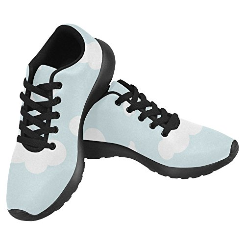Interestprint Womens Jogging Running Sneaker Leggero Go Easy Walking Casual Sport Sports Scarpe Da Corsa Blue Sky With Clouds Multi 1