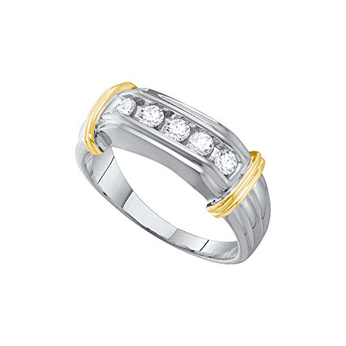 Two Tone Diamond Promise Ring - 8