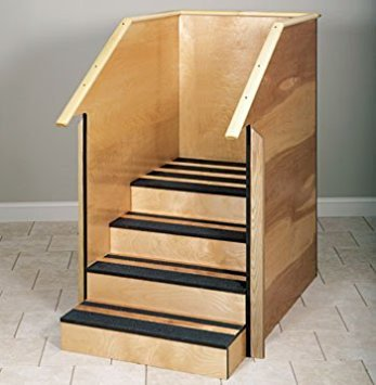 Clinton Value Series One-Sided Therapy Stairs with Full Sides