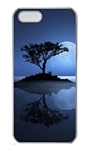 Customizable iPhone 5/5S Cases & Covers Full Moon Over The Lake PC Hard Case Compatible with iPhone 5s and iPhone 5 - Transparent