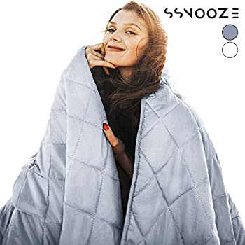 Image of ?LEVER sSnooze Weighted Blanket - Stylish Weighted Blanket Adult, for Kids, Smallest Pockets & Glass Beads, Heavy Blanket (48'x72' - 15 lbs, Weighted Blanket, Slate Blue) %C3%89LEVER B07K92346D Weighted Blankets
