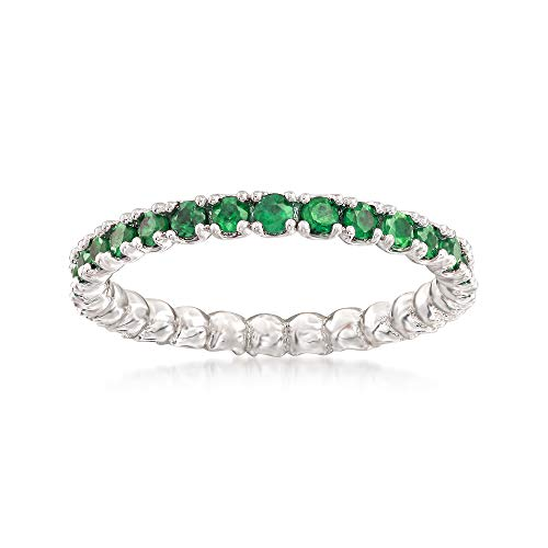 Ross-Simons 0.96 ct. t.w. Tsavorite Stackable Eternity Band in Sterling Silver