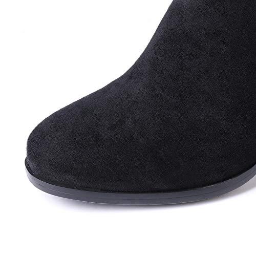 femmes noires Sandales pour compensées An Dku02755 qFAw1nFv