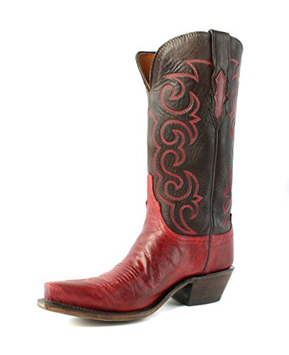 Lucchese N4722.s54 Dana Dames Roodgepolijste Geitenlaarzen Western Cowboylaarzen