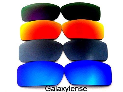 Galaxylense lentes de repuesto para Oakley Gascan negro, morado, verde y rojo Color Polarizados