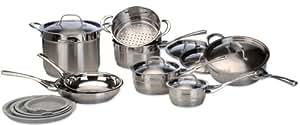 Delonghi CS-14GE Cookware Set, Genoa, 14-Piece (Metallic)