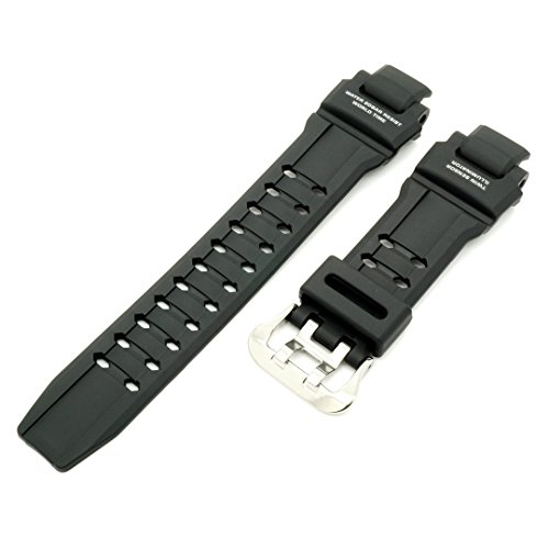 CASIO 10493622 Resin Watch Band f/ G-SHOCK GRAVITYMASTER GA-1100 GA1100-1A (G-shock Black Resin Band)