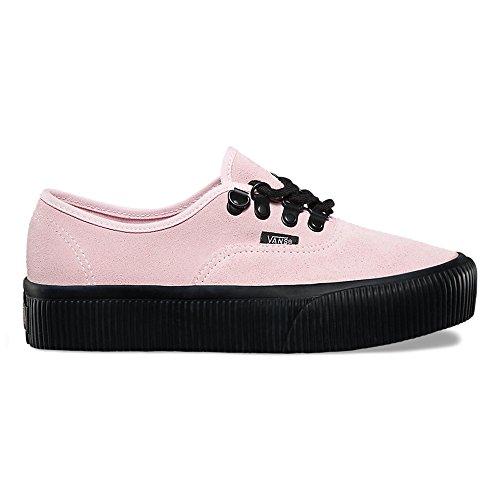 Vans Authentieke Platform (reliëf) Mode Sneakers Krijt Roze / Zwart Maat 5 Heren / 6,5 Dames