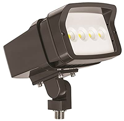 Lithonia Lighting OFL1 LED P2 40K MVOLT THK DDBXD M4 4000K Color Temperature Size 1 Floodlight with P2 Performance Package - Knuckle Mounted