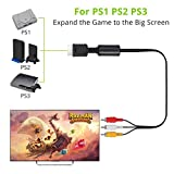 LiNKFOR 6ft PS2 PS1 PS3 to AV Cable AV Cable