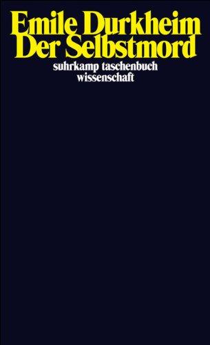Der Selbstmord (suhrkamp taschenbuch wissenschaft)