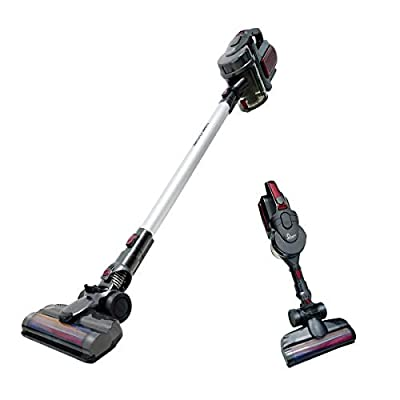 SHINEFUTURE Stick Vacuum Cleaner 2 in 1 Cordless Vacuum Cleaner 8500pa Strong Suction Rechargable Hand Vacuum Cleaner with Wall Mount LED Light for Home Car Pet Cleaning