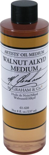 M. Graham 8-Ounce Walnut/Alkyd Medium