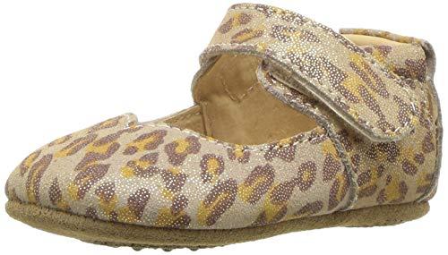 Livie & Luca Girls' Astrid Crib Shoe, Leopard Shimmer, 18-24 Medium US Infant