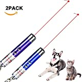 2X Fashion 2 In1 Red Laser Pointer Pen White LED Light Childrens Cat Toy,Battery Included, Interactive Bright Exercise Training Tool Fun Cat Dog Chaser Toy
