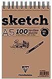 Clairefontaine 22903127 - Cuaderno de anillas (A5, 100 hojas), marrón