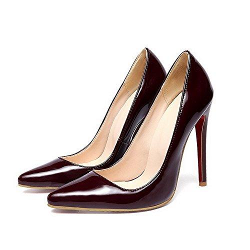 massif pumps balamasa cuir Bordeaux Mesdames élastiquée shoes verni qAvFWRUvw