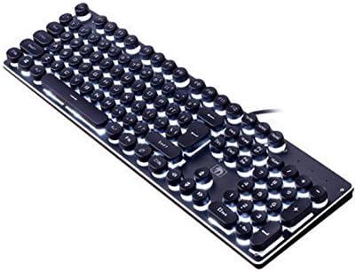 Black Elegant HUAJI ABS Round Key Caps Backlight for Cross Axis Mechanical Keyboard