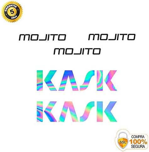 Autocollants de v/élo Ensemble dautocollants de v/élo en Vinyle KASK Mojito Autocollants Casco v/élo Autocollant d/écoratif de v/élo