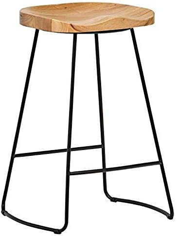 Amazon Brand Rivet Modern Industrial Wood Kitchen Counter Bar Stool