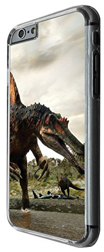 1058 - Cool fun dinosaur art t-rex triceratops stegosaurus spinosaurus (6) Design For iphone 6 Plus / iphone 6 Plus S 5.5'' Fashion Trend CASE Back COVER Plastic&Thin Metal -Clear