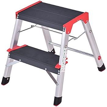 Giantex 2 Step Aluminum Ladder Folding Platform Work Stool