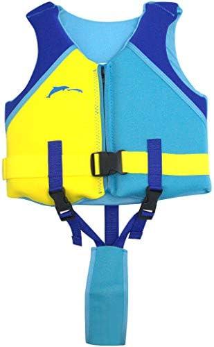 Hony Ni/ños Chaleco Flotante Aprender a Nadar Flotador Ajustable Beb/é Traje de Chaleco Nataci/ón Traje de Ba/ño Ropa de Nataci/ón Traje de Surf para Ni/ñas Chicos,Azul Rojo